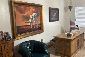 1701 Oak Street in Burnet TX interior large bedroom with desk