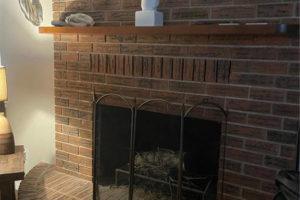 1701 Oak Street in Burnet TX brick fireplace