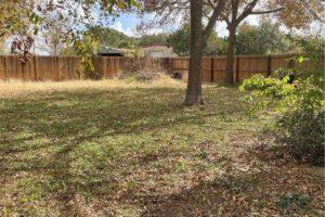 1701 Oak Street in Burnet TX large backyard with trees