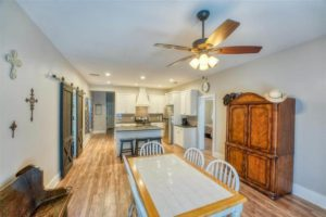 206 E Post Oak St in Burnet, TX dining room and kitchen open floorplan