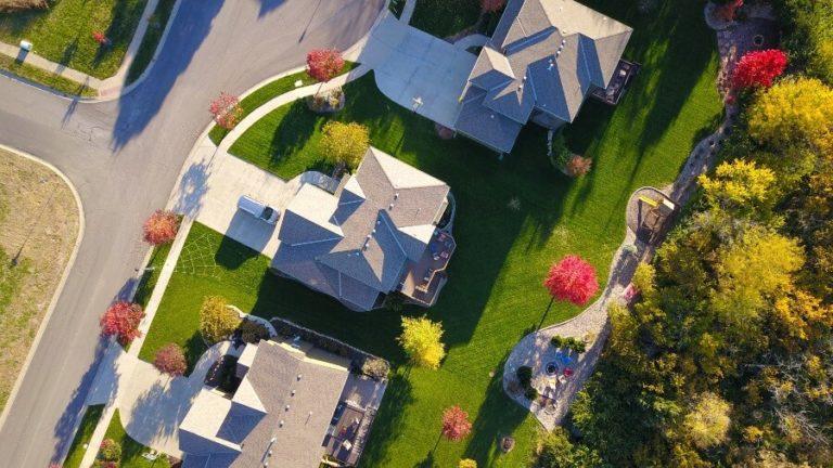 Houses in a residential neighborhood